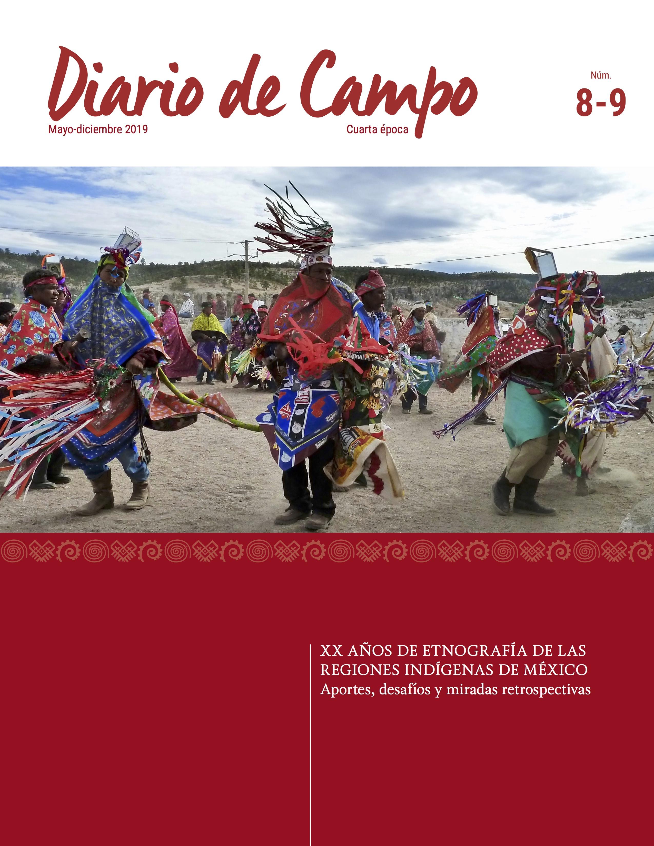 """Fotografía Matachines de Narárachi, Chihuahua - Portada del número """"XX Años de Etnografía de las Regiones Indígenas de México"""""""
