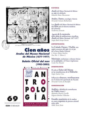Ver Núm. 69 (2003): Cien años. Anales del Museo Nacional de México (1877-1977)
