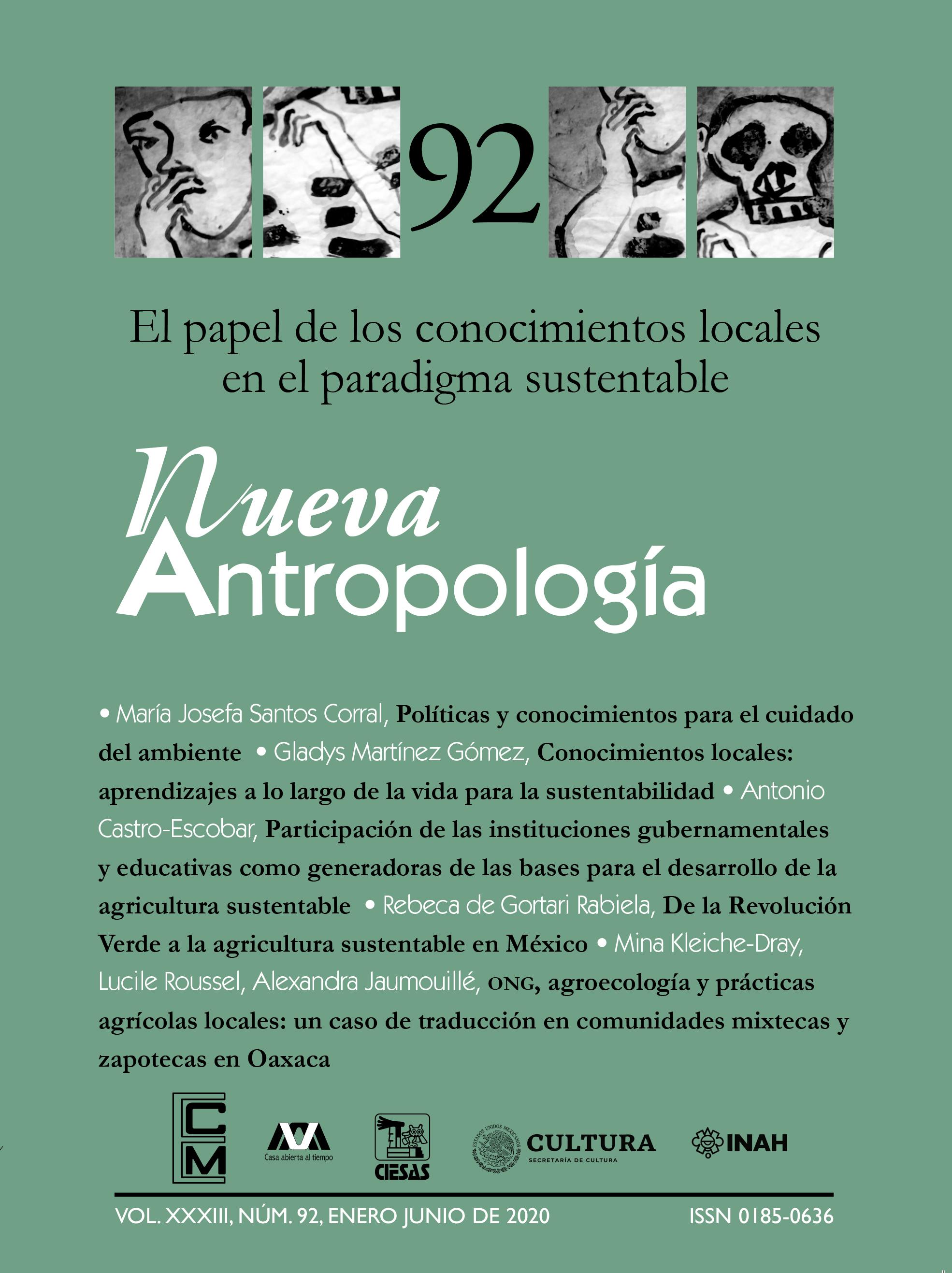 Ver Vol. 33 Núm. 92 (2020): El papel de los conocimientos locales en el paradigma sustentable